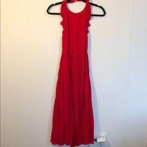 Asos Pleated Halter Backless Midi Dress, US04